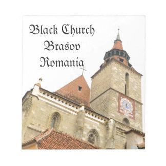 Black church in Brasov, Romania Notepad
