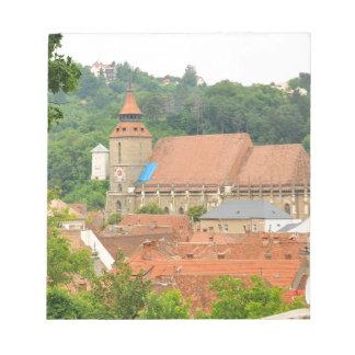 Black church in Brasov, Romania Notepads