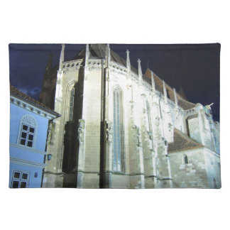 Black church in Brasov, Romania Placemat