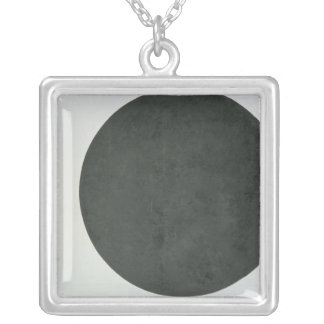 Black Circle, c.1923 Silver Plated Necklace