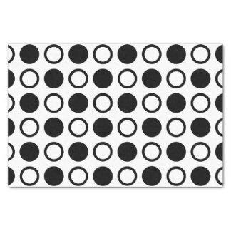 Black Circles and Polka Dots Tissue Paper