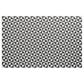 Black Circles and Squares Fabric