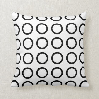 Black Circles Cushion