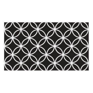 Black Circular Pattern Pack Of Standard Business Cards