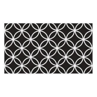 Black Circular Pattern Pack Of Standard Business Cards