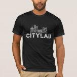 Black CityLab T-Shirt with White Skyline Design