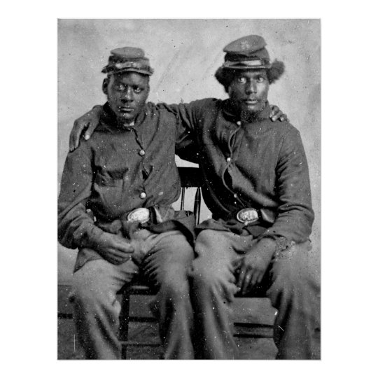 Black Civil War Soldiers, 1860s Poster