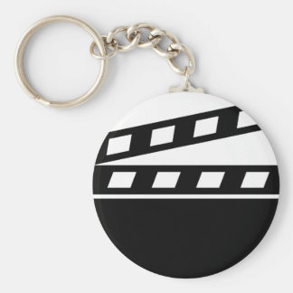 Black Clapperboard Key Ring