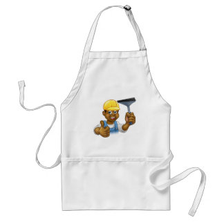Black Cleaner With Squeegee Standard Apron