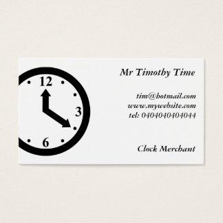 Black Clock Business Card