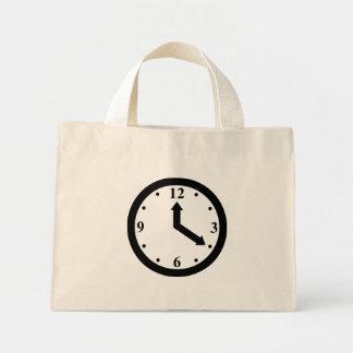 Black Clock Canvas Bags