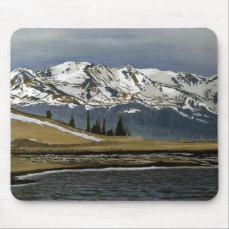 Black Cloud Mine Oil Landscape Painting Mouse Pad