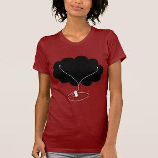 Black Cloud with Ear Buds Tee Shirts