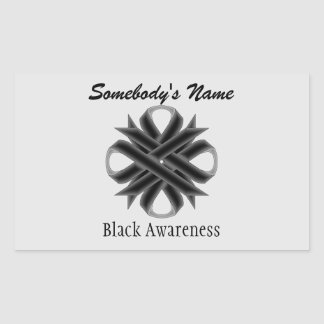 Black Clover Ribbon Rectangular Sticker