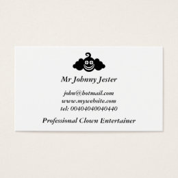 Clown faces business cards business card printing zazzle uk black clown mr johnny jester business card colourmoves