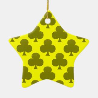 Black Club Pattern Christmas Ornament