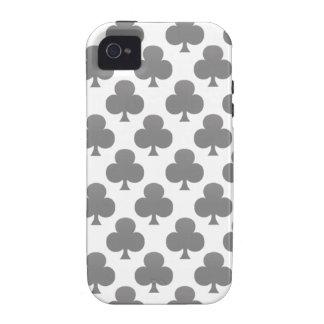 Black Club Pattern Vibe iPhone 4 Cover