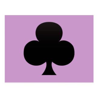 Black Club - Suit of Gambling Cards Post Card