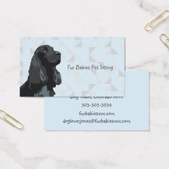 Black Cocker Spaniel Business Cards