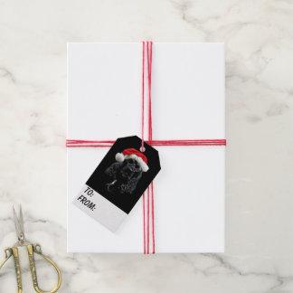 Black Cocker Spaniel Christmas Gift Tags