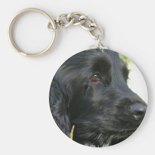 Black Cocker Spaniel Dog Keychain