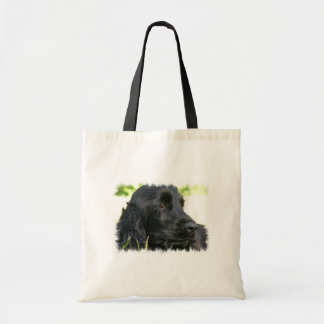 Black Cocker Spaniel Dog Tote Bag