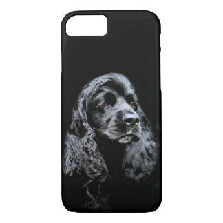 Black cocker spaniel face iPhone 7 case