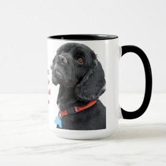 Black Cocker Spaniel Head Mug