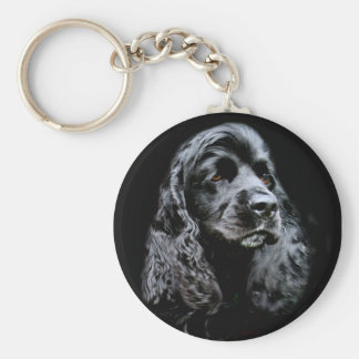 Black Cocker Spaniel Key Ring