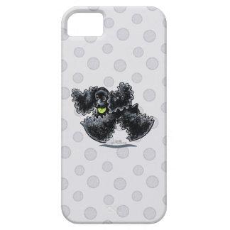 Black Cocker Spaniel Play iPhone 5 Cases