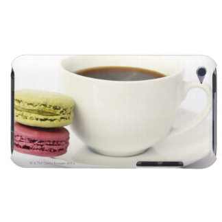 Black coffee in white cup with two french barely there iPod cover