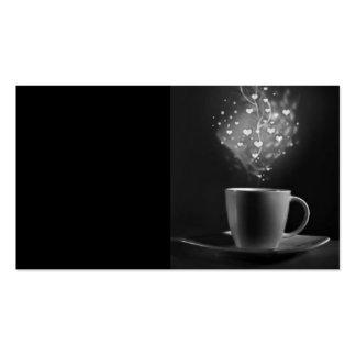 BLACK COFFEE LOVE BOHEK HEARTS DRINKS BEVERAGES CA PACK OF STANDARD BUSINESS CARDS