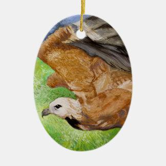 Black-collared Hawk Pastel Fine Art Ornament