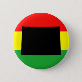 Black Colorado on Rasta Colors 6 Cm Round Badge