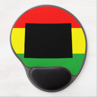 Black Colorado on Rasta Colors Gel Mouse Mat
