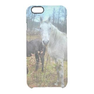 Black Colt White Horse Clear iPhone 6/6S Case