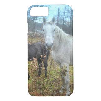 Black Colt White Horse iPhone 7 Case