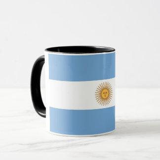 Black Combo Mug with flag of Argentina