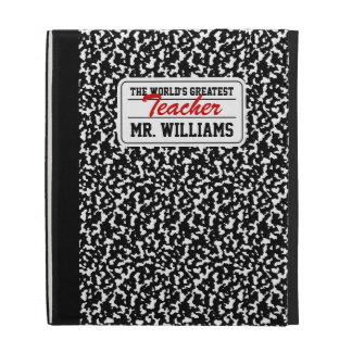 Black Composition Notebook iPad Case
