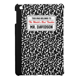 Black Composition Notebook Case For The iPad Mini