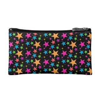 Black Confetti Black Multi Makeup Bag