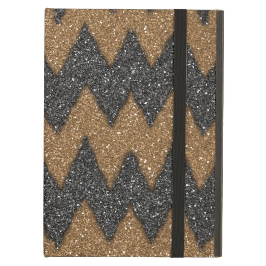 Black Cooper Girly ZigZag Glitter Photo Print Case