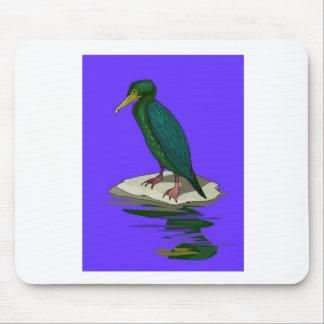 Black Cormorant Mousepads
