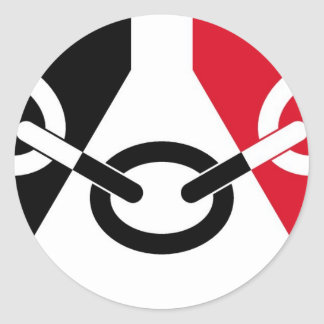 Black Country Flag Classic Round Sticker