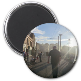Black Country Museum Street Scene 6 Cm Round Magnet