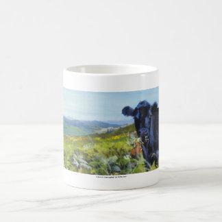 black cow & landscape painting mugs