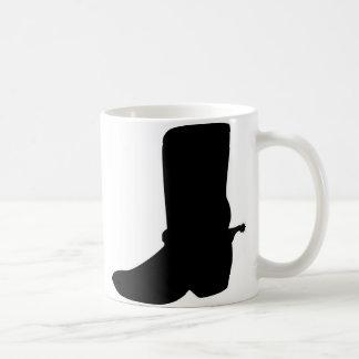 Black Cowboy Boot with Spurs Basic White Mug