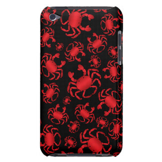 Black crab pattern iPod touch cases