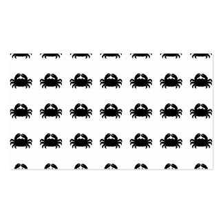 Black Crab Silhouette Pack Of Standard Business Cards