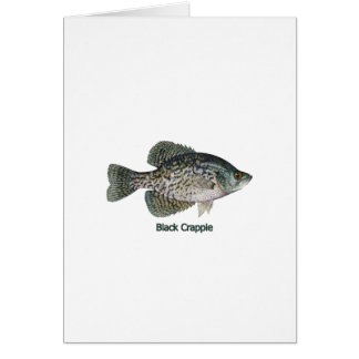 Black Crappie (titled) Greeting Card